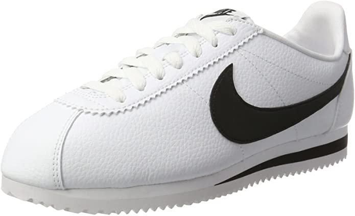 Classic Cortez Leather, Zapatillas de Running para Mujer rayas negro