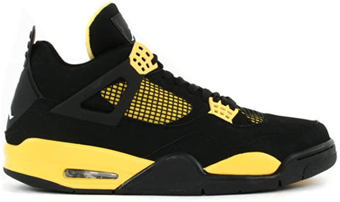 Nike Air Jordan 4 Retro LS Thunder 2006 BlackTour Yellow-White