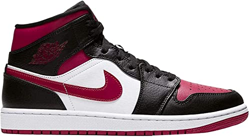 Tenis Air Jordan 1 Mid Black Noble Red White